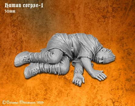 Enigma Miniatures: Human Corpse-1