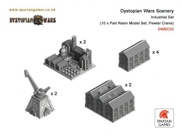 Dystopian Wars: Scenery: Industrial Set