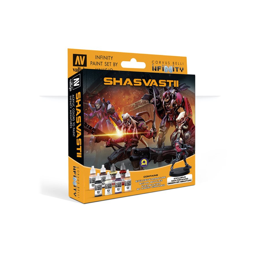 Infinity Paint Set By Vallejo: Shasvastii (w/Exclusive Miniature)