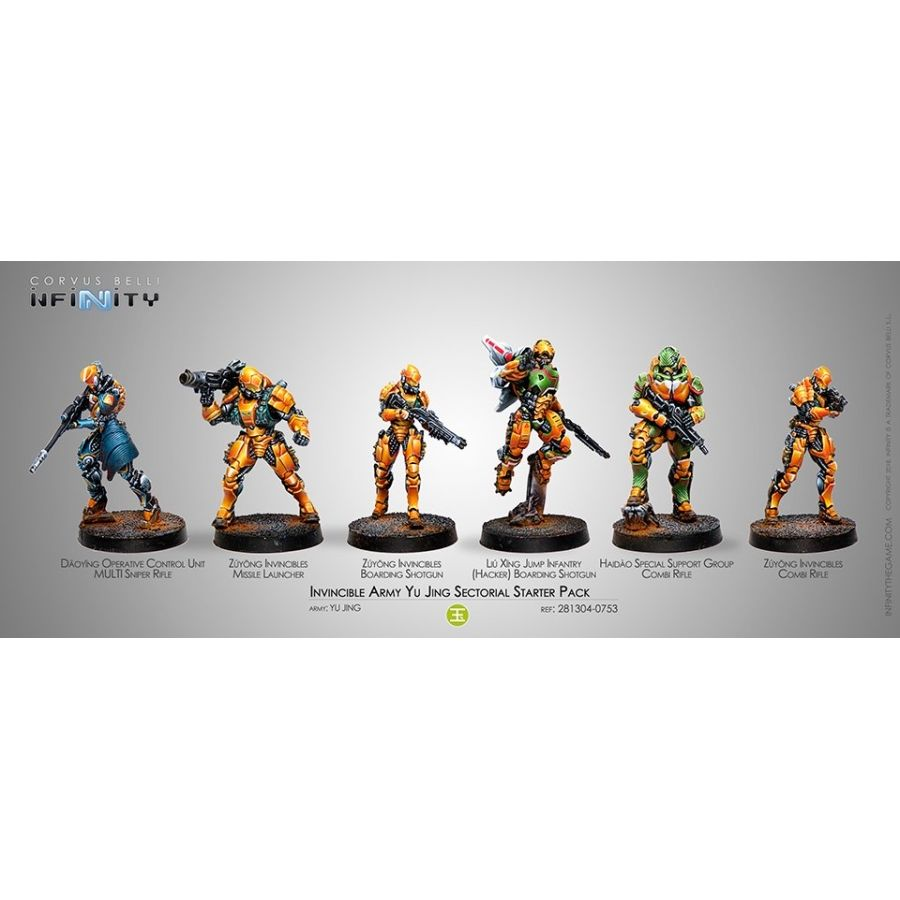 Infinity Yu Jing (#753): Invincible Army Sectorial Starter Pack