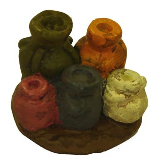 JR Miniatures: 28mm Medieval Terrain: Wine Jugs (6)