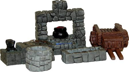 JR Miniatures: 28mm Medieval Terrain: Blacksmith Accessories (5pc) [MisPACK]