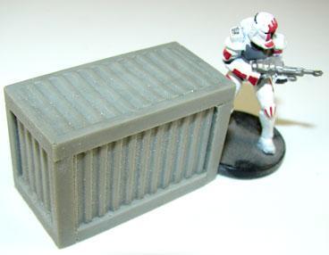 JR Miniatures - 28mm Sci-Fi Terrain: Large Supply Crate #JRM7049