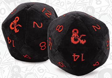 "JUMBO 10"" PLUSH D20 - Dungeons & Dragons Black/Red"