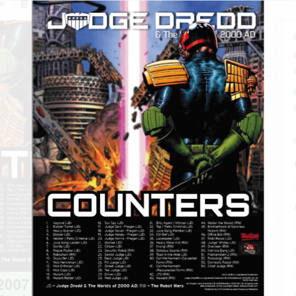 Judge Dredd & The Worlds of 2000 AD: Counters Set