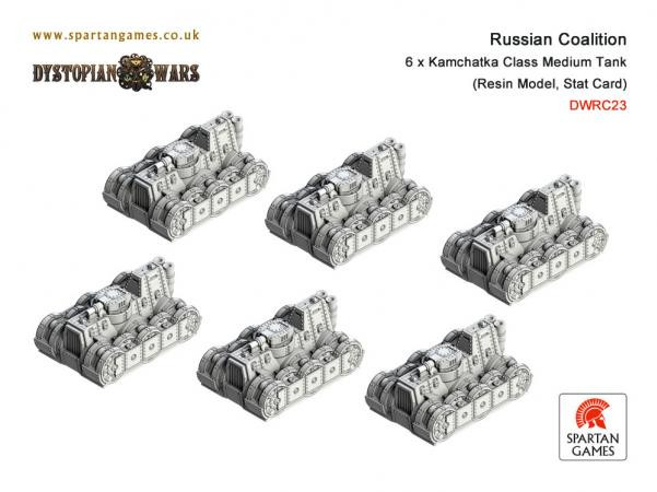 Dystopian Wars: Russian Coalition: Kamchatka Class Medium Tank