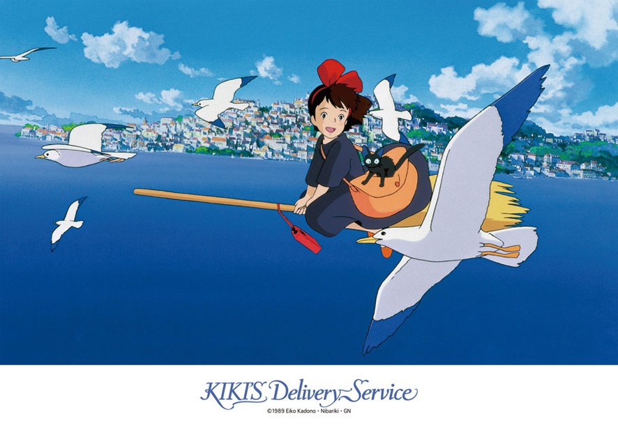 Kikis Delivery Service: Kiki Saying Hello to Seagulls Puzzle
