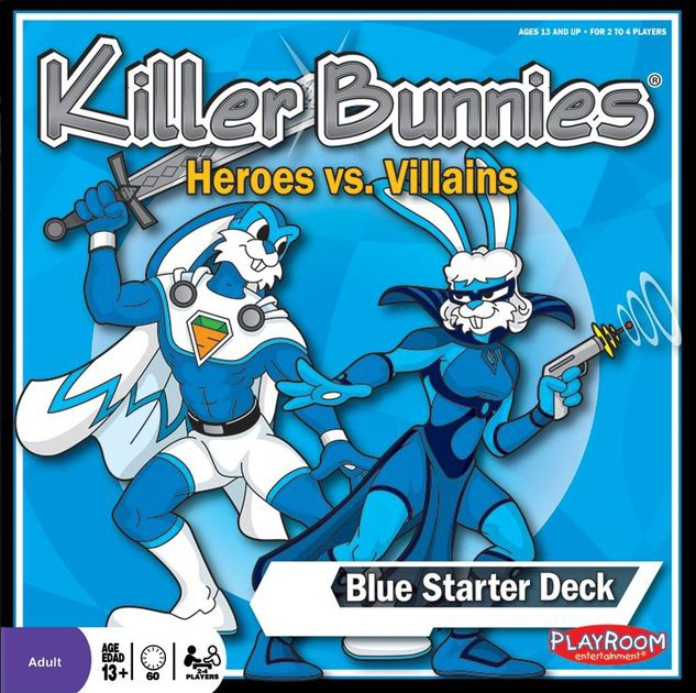 Killer Bunnies: Heroes vs Villains : Blue Starter [Damaged]