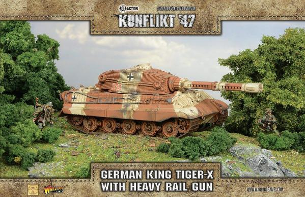 Konflikt 47: German King Tiger-X with Heavy Rail Gun