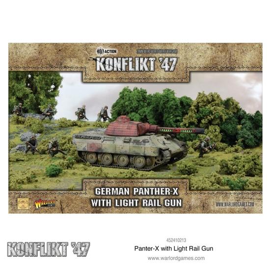 Warlord Games - Konflikt '47: German Panther-X with Heavy Rail Gun