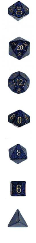 Koplow: 7PC Polyhedral Dice Set: Elemental: Golden Cobalt