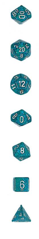 Koplow: 7PC Polyhedral Dice Set: Elemental: Sea