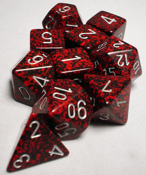 Koplow: Polyhedral 10 Dice Set: Speckled Silver Volcano