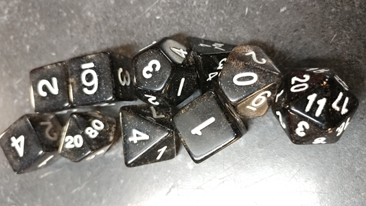Koplow RPG Dice Sets: Glitter Black Polyhedral 10-Die Set