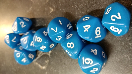Koplow RPG Dice Sets: Opaque Blue D10 10-Die Set