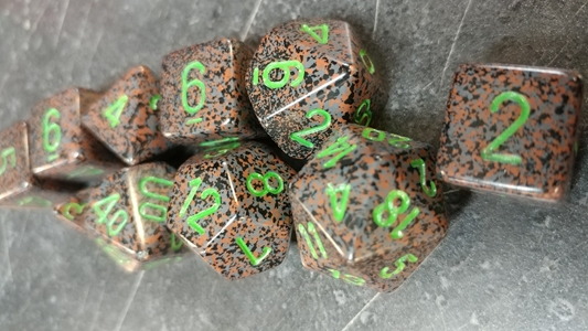 Koplow RPG Dice Sets: Speckled & Elemental Earth Polyhedral 10-Die Set