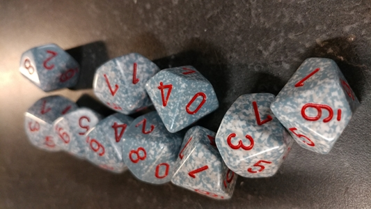 Koplow RPG Dice Sets: Speckled & Elemental Air D10 10-Die Set