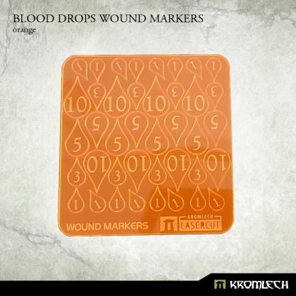 Kromlech Accessories: Acrylic Blood Drops Wound Markers (Orange)
