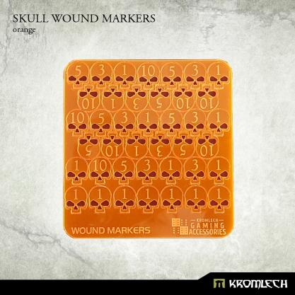 Kromlech Accessories: Acrylic Skull Wound Markers (Orange)