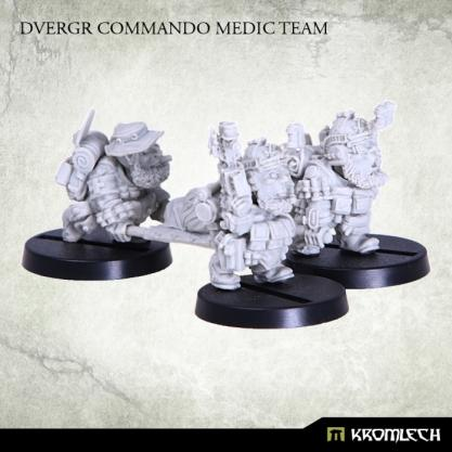 Kromlech Miniatures: Dvergr Commando Medic Team (4)
