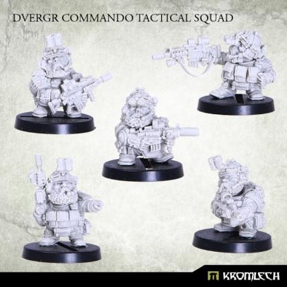 Kromlech Miniatures: Dvergr Commando Tactical Squad (5)