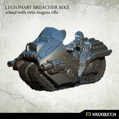 Kromlech Miniatures: Legionary Breacher Bike (armed with twin magma rifle)