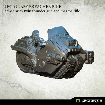 Kromlech Miniatures: Legionary Breacher Bike (armed with twin thunder gun and magma rifle)