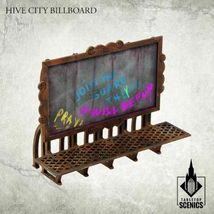 Kromlech Tabletop Scenics: Hive City Billboard
