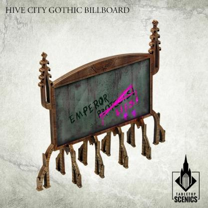Kromlech Tabletop Scenics: Hive City Gothic Billboard