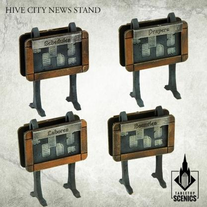 Kromlech Tabletop Scenics: Hive City News Stands
