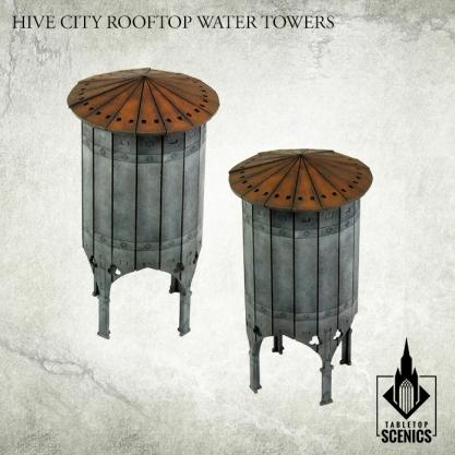 Kromlech Tabletop Scenics: Hive City Rooftop Water Towers