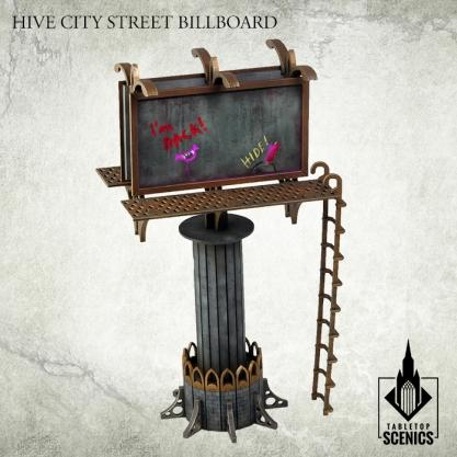 Kromlech Tabletop Scenics: Hive City Street Billboard