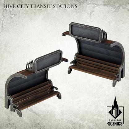 Kromlech Tabletop Scenics: Hive City Transit Stations