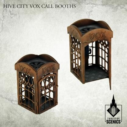 Kromlech Tabletop Scenics: Hive City Vox Call Booths