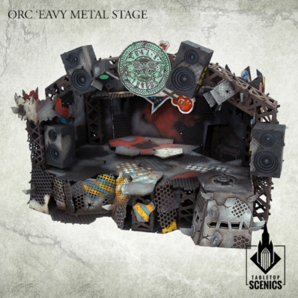 Kromlech Tabletop Scenics: Orc Eavy Metal Stage