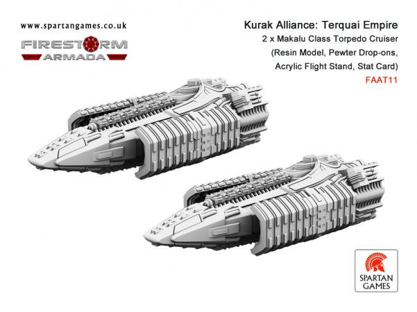 Firestorm Armada: Kurak Alliance Terquai Empire Makalu Class Torpedo Cruiser