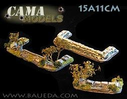 Cama Scenics: 15mm WWII Battlefield Accessories: Large & Small 'Dug-In' Markers (Rural)