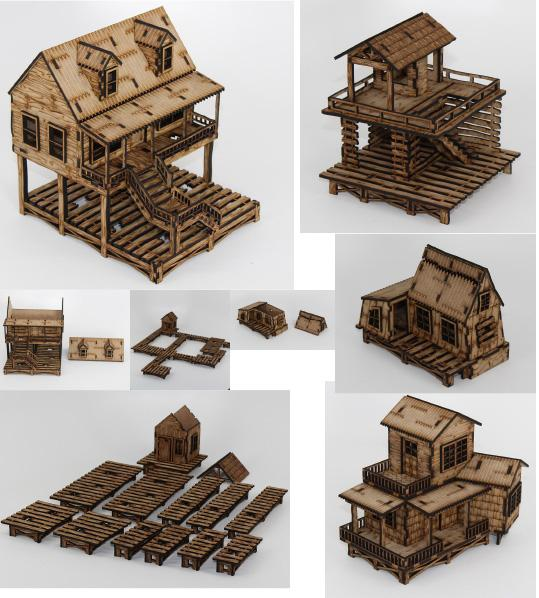 Laser Craft Workshop 28mm: Bachelors Bayou Set