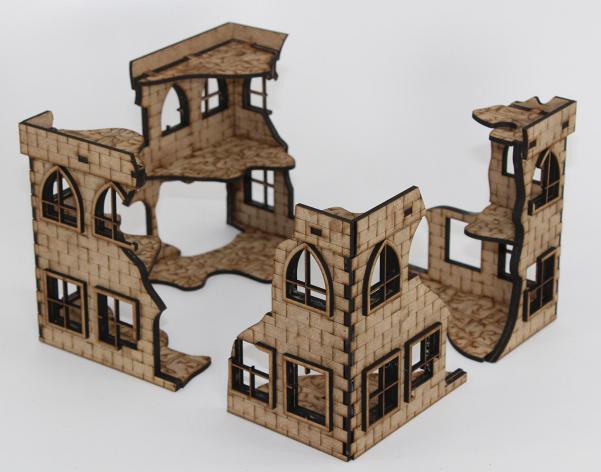 Laser Craft Workshop 28mm: The Four Corners (Ruins)