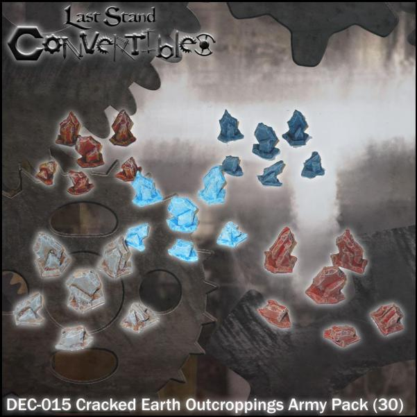 Last Stand Convertibles Bitz: Cracked Earth Outcroppings Army Pack (30)