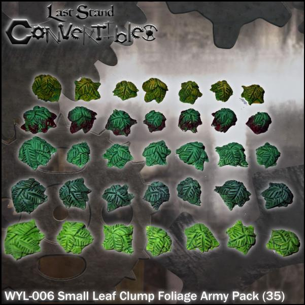 Last Stand Convertibles Bitz: Small Leaf Clump Foliage Army Pack (35)