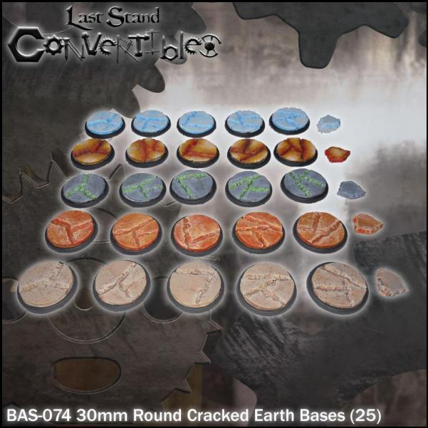 Last Stand Convertibles: Round 30mm: Cracked Earth (25)