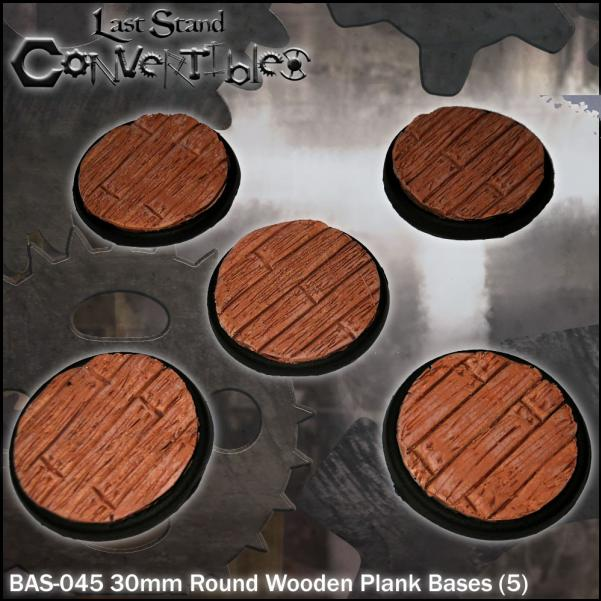 Last Stand Convertibles: Round 30mm: Wooden Plank (5)