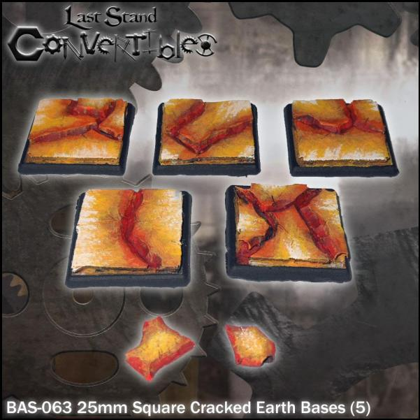 Last Stand Convertibles: Square 20mm: Cracked Earth (5)