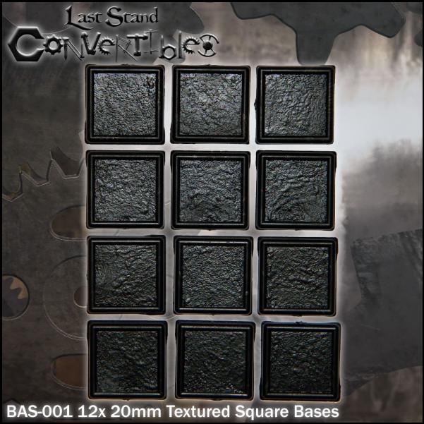 Last Stand Convertibles: Square 20mm: Textured (12)