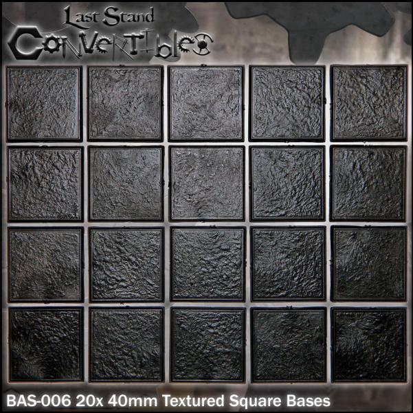 Last Stand Convertibles: Square 40mm: Textured (20)