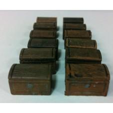 Legendary Realms Terrain: Small Wooden Chest (Set of 12)