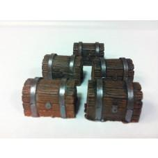 Legendary Realms Terrain: Wooden Chest (Set of 5)