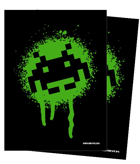 Turn One Gaming: Space Invaders Graffiti Glossy Sleeves