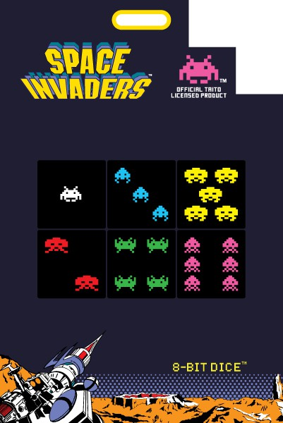 Space Invaders Special Edition 8-Bit Dice